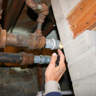 Copper Connected to Galvanized Pipe Systems